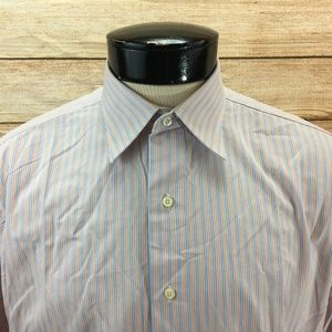 Brooks Brother Striped Button Front Shirt L